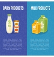 Dairy products vertical flyers with space for text vector image vector image