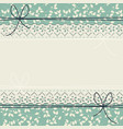 decorative lace frame with stylish flowers and vector image vector image