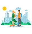 ecological city transportation vector image