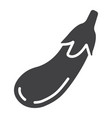 eggplant solid icon vegetable and diet vector image
