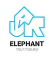 elephant j r junior alphabets shape logo icon vector image vector image