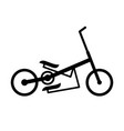 elliptical bike vector image vector image