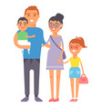 family people adult happiness smiling group vector image vector image