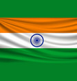 flag india fabric colorful background vector image vector image