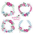 Flower Banners and Tags vector image