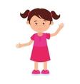 girl cartoon happy isolated vector image
