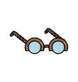 glasses accessory design vector image vector image