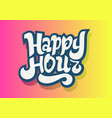 happy hour hand drawn lettering design vector image vector image