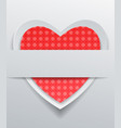 heart with red pattern on gray background vector image