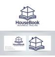 house book logo design vector image vector image