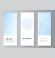 layout roll up mockup templates for vector image vector image