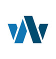 letter w icon logo vector image vector image