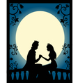 Lovers at night vector | Price: 1 Credit (USD $1)