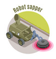 military robots isometric emblem vector image vector image