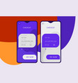 mobile app ui payment and checkout screens mockup vector image
