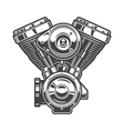 motorcycle engine vector image vector image