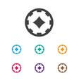 of gambling symbol on poker vector image