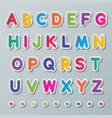 paper capital letters a to z vector image