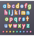 paper small alphabet letters vector image vector image