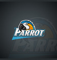 parrot logo template high resolution image vector image