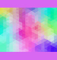pastel colored triangular mosaic background vector image