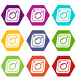 photo icons set 9 vector image vector image