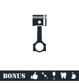 Piston icon flat vector image