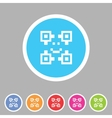 Qr code icon flat web sign symbol logo label vector image vector image