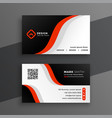 red modern business card design template vector image vector image