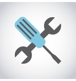 repair service wrench tool vector image