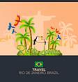 rio 2016 games travel in brasil south america vector image vector image