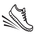 Running shoes icon4 vector image vector image