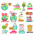 save earth happy earth day cliparts vector image