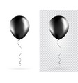 set black balloons on transparent white vector image vector image
