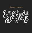 set handwritten ampersandscalligraphic vector image vector image