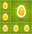 Set of 6 Happy Easter background vector image vector image