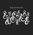 set of handwritten ampersandscalligraphic vector image
