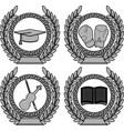 set symbols achievement vector image