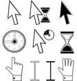 Several Arrows vector image vector image