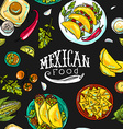 simpless pattern mexican food vector image