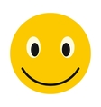 Smiley face icon flat style vector image vector image