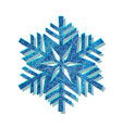 snowflake blue logo with texture scratched with vector image vector image
