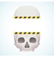 split skull vector image vector image