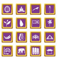 sri lanka travel icons set purple vector image vector image