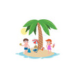summer beach vacation template vector image vector image