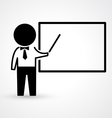 Teacher with blackboard icon vector image