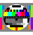 television test card vector image vector image