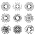 template hologram watermark set circular pattern vector image