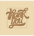 thank you typography calligraphy logo with thin vector image vector image