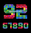 triangle number 92 vector image vector image